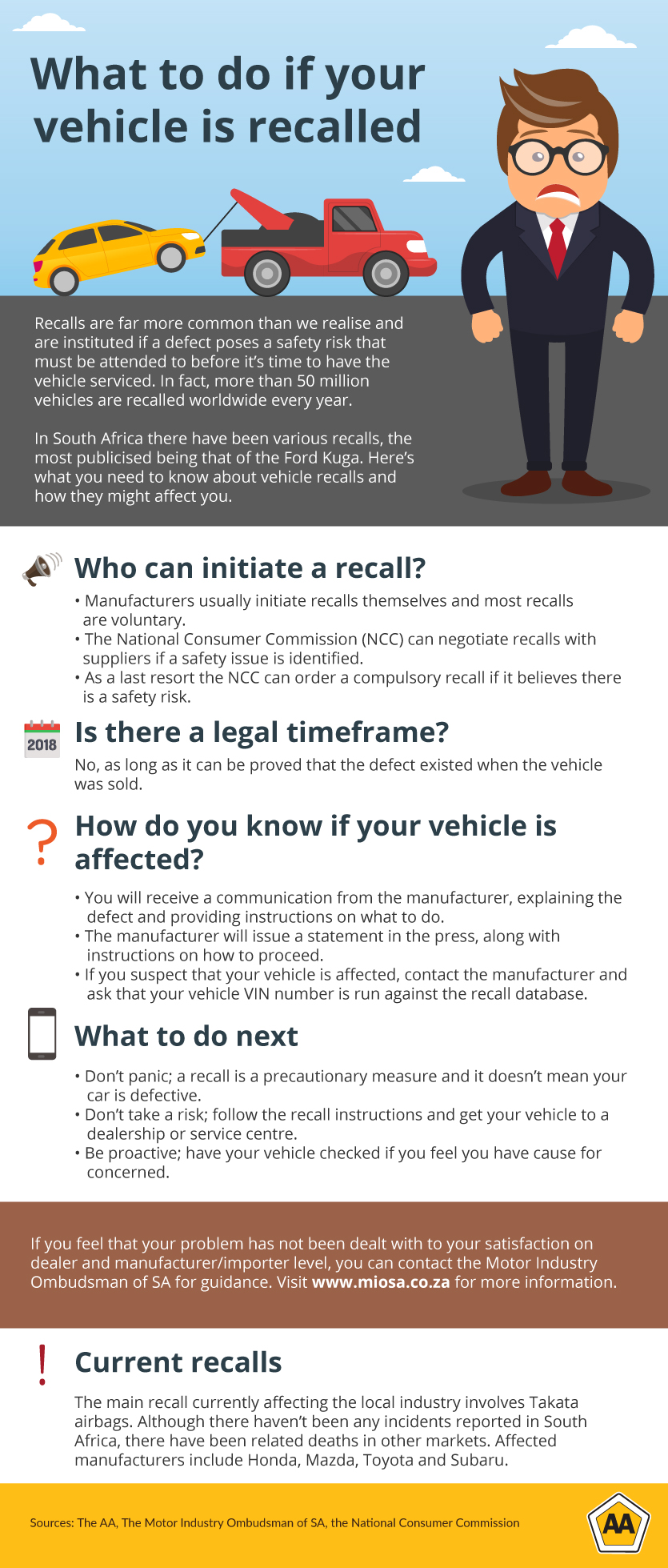 What to do if your vehicle is recalled
